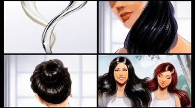 storyboard_storyboarding_concept_art_terry_brown_hair_shampoo_Dove